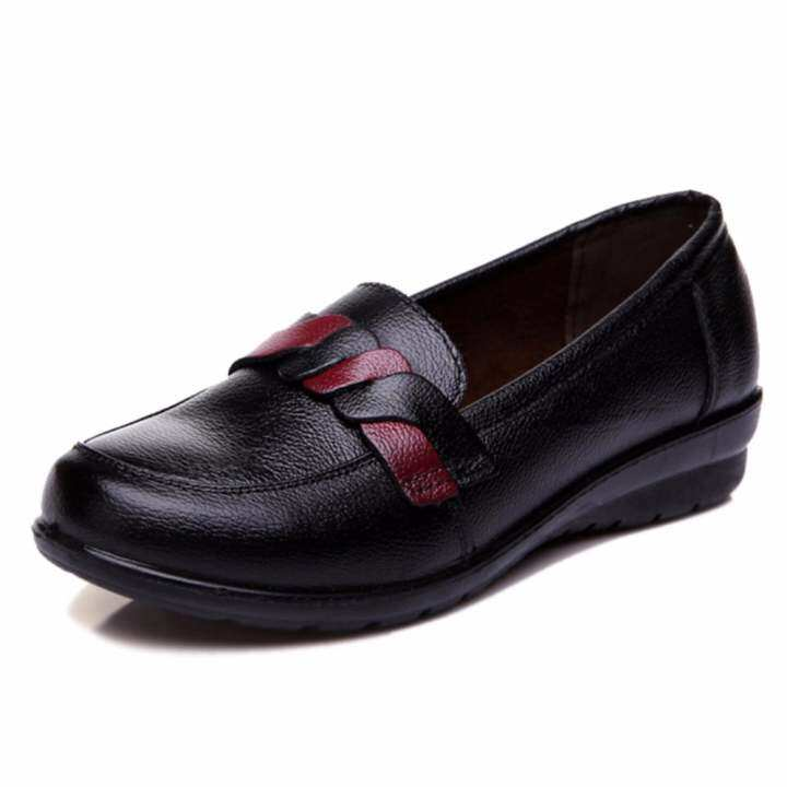 Man's/Woman's~Comfortable Genuine Leather Leather Leather Women Shoes Loafers Soft Bottom Non-Slip Flat Shoes Woman (Black) ~Good Selling All over the World 2f51e4