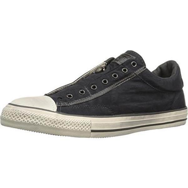 Converse by John Varvatos Distressed Painted Nylon Vintage Slip On Sneaker Black - intl