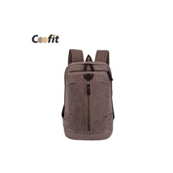 02264180ff4e Coofit Fashion Canvas Mens Backpacks Students School Bag HighQuality Famous  Brand Vintage Travel Bags Casual Men