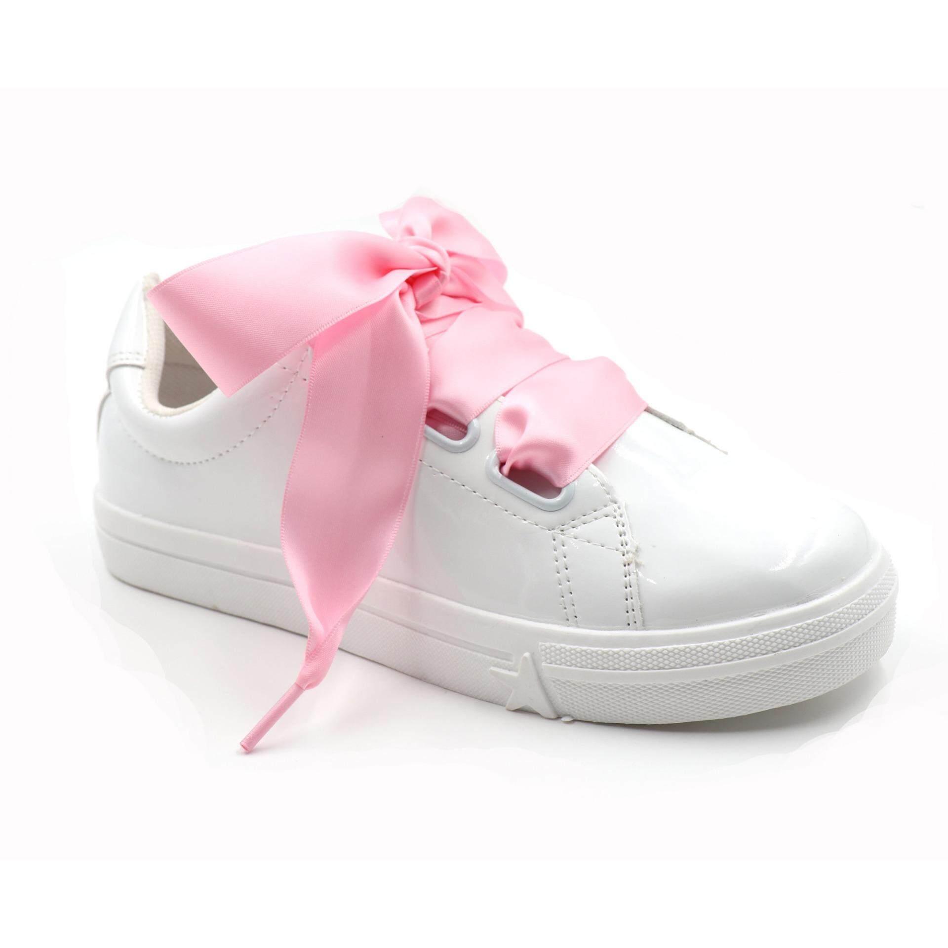 47d1a78785e5a COOL LACE Satin Ribbon Shoelaces Flat Shoe Laces 1 Pair Pack 32mm Wide 3  Different Lengths - intl