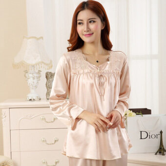 Silk Pajamas for Women. Paling murah Couples Pajamas Sets Men Women Long  Short Sleeve . fd8e6f825