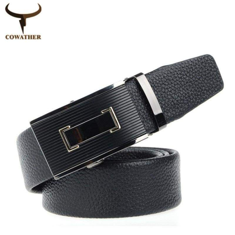 Cowather 2018 Top Genuine Leather Belt For Men Brand Mens Beltsluxury Ripple Wave Automatic Buckle Natural Skin Free Shipping By Town For Like.
