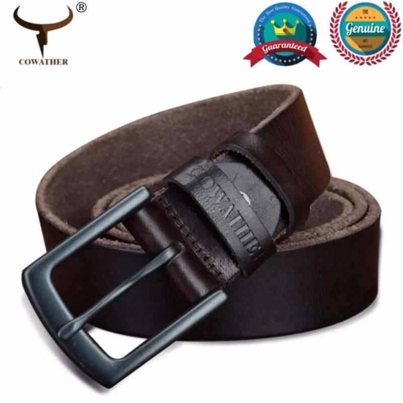 MYR 72. COWATHER Men's Super Soft Top Grain 100% Cow Leather Dress Belt tali