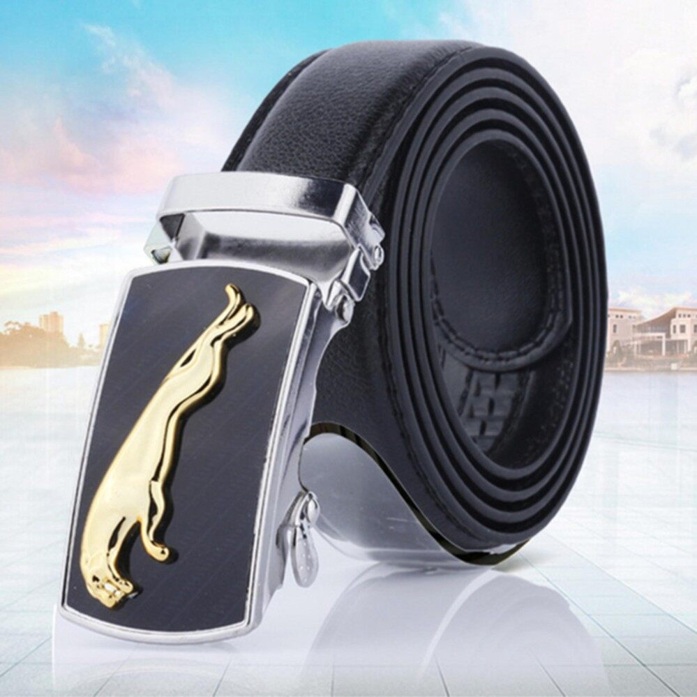 3b7837c20198 New Casual Jaguar Top Designers Luxury Cowhide Brand Genuine Leather Belts  for Mens Wedding Male Cowskin