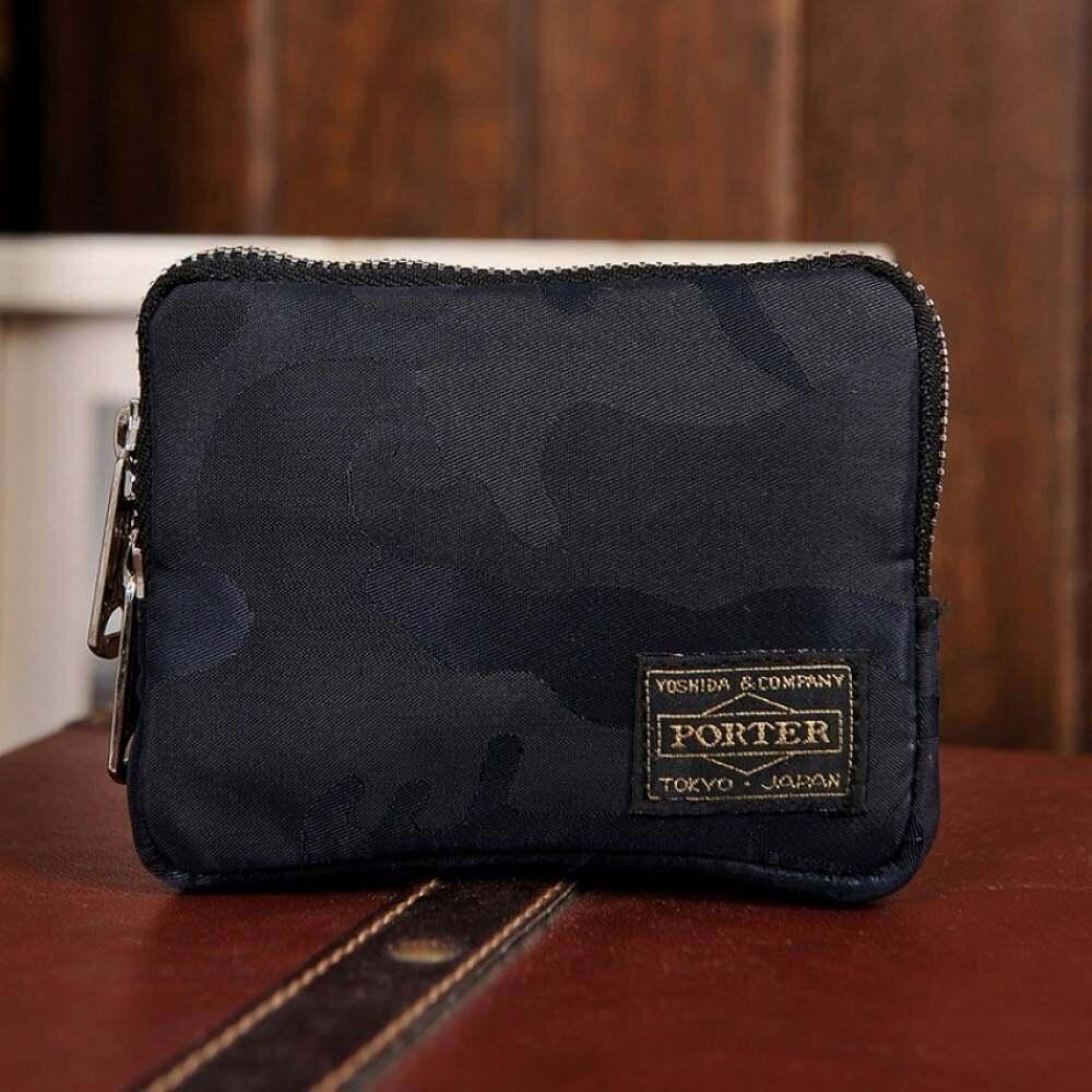 EYQTOUS CStore Porter Unisex Japanese & Coin Darkcamouflage Purse Korean Black