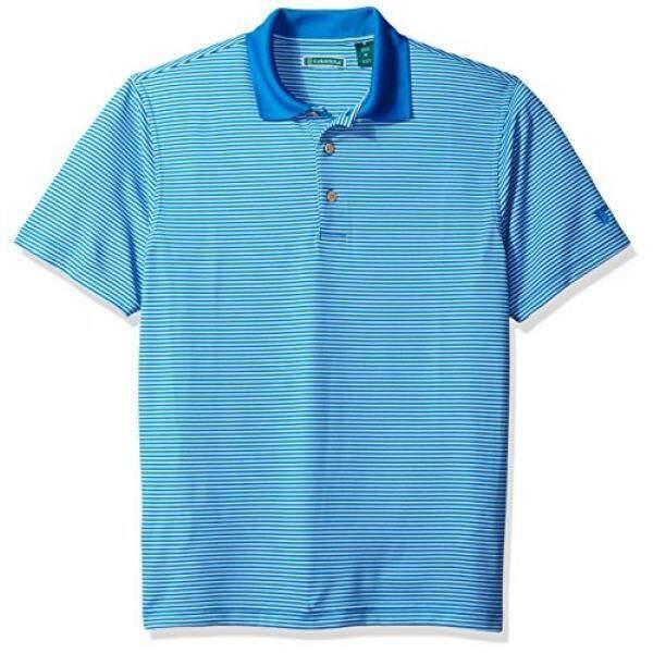 Cubavera Cubavera Mens Essential Two Stripe Textured Performance Polo Shirt, French Blue, L - intl