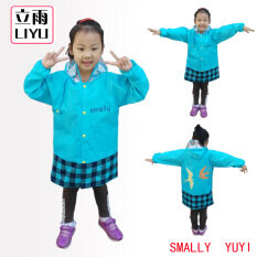 Cute Boys Girls Animal Children Cartoon Rain Coat Baby Raincoat Kids Rainwear-Blue By Catrina.