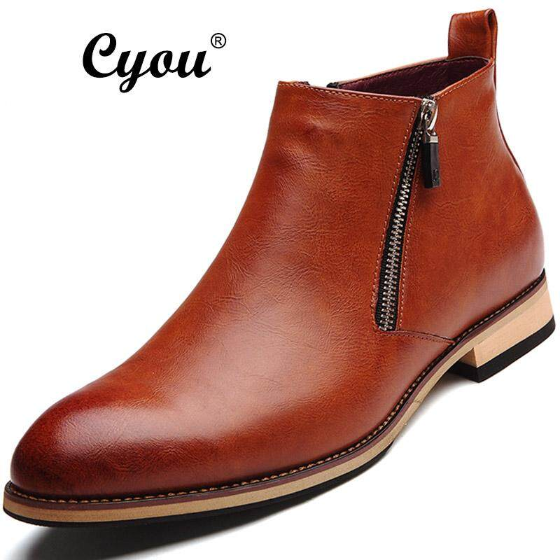 Cyou 2018 New Arrivals Autumn And Winter Mens Fashion Formal Boots