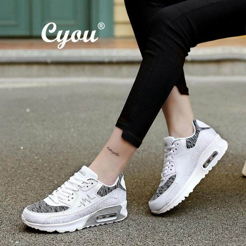 CYOU Women and Men s Fashion Sneakers Couple in Casual Shoes Air PU Leather  Sneakers Kasut Wanita 9986a3d7b8