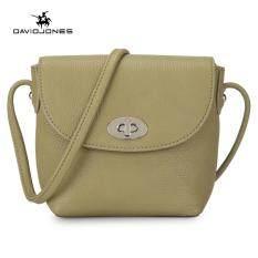 c57c8ab90a DAVIDJONES women handbag pu leather female crossbody bag small lady plain shoulder  bag girl casual messenger