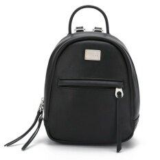DAVIDJONES women shoulder bag pu leather female backpack small lady plain  back bag girl casual book bag original student designer pouch teen brand  softpack ... 0d9e77b3eb204