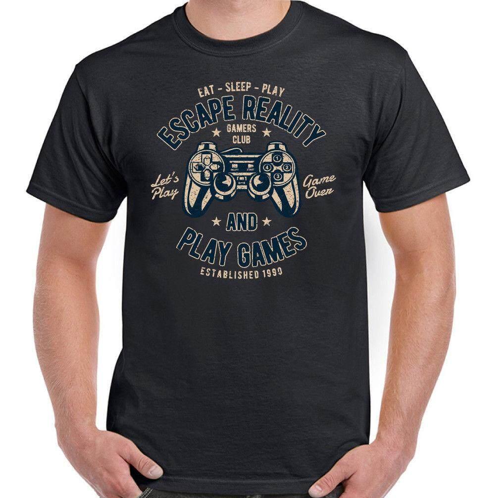 NATURAL BORN GAMER Mens Funny Gaming T-Shirt PS4 Xbox Console PC Retro Top Gift