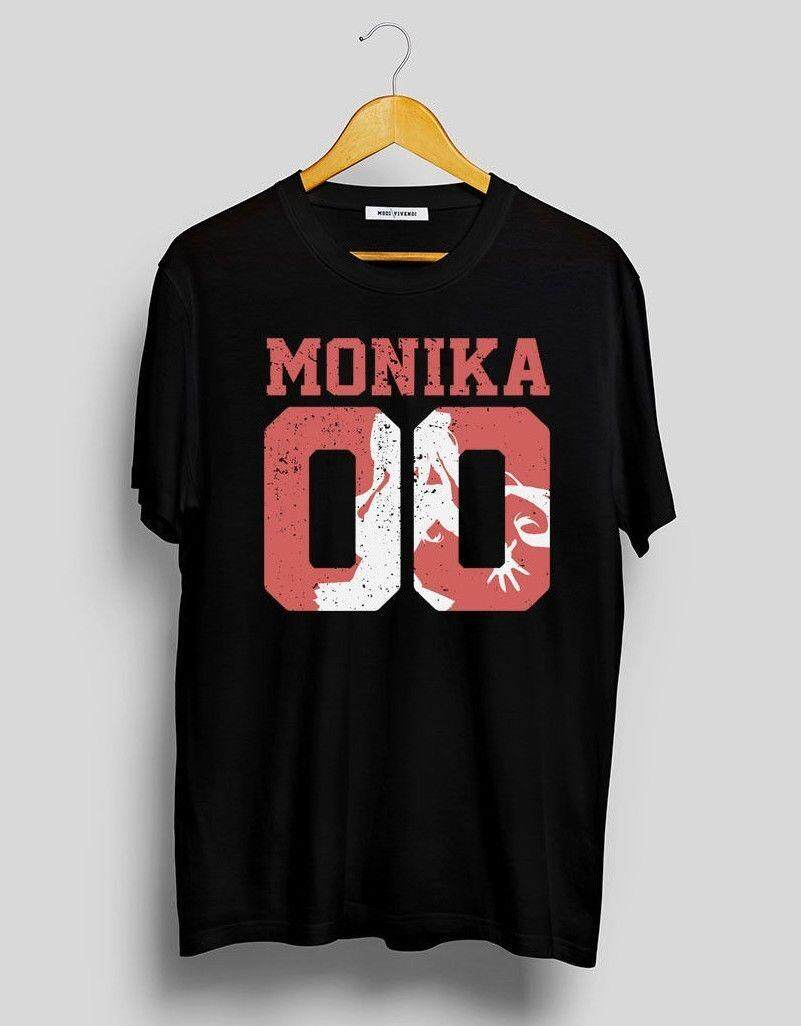 Rincian Tentang Monika Jersey Kaus/Hanya Monika Lit Kaus Klub/Sastra Klub Kaus Katun Pria Modis Kaus desain Baru Kaus-Internasional