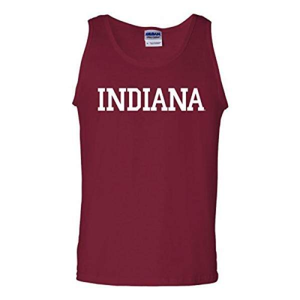 [DNKR]AT01 - Indiana Hoosiers Basic Block Mens Tank Top - Medium - Cardinal Red - intl