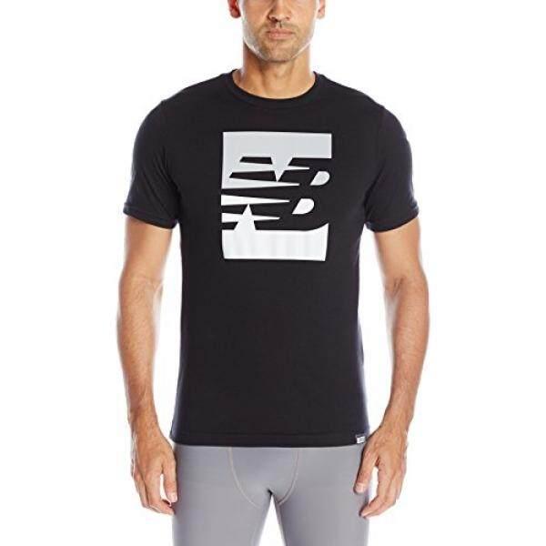 [DNKR]New Balance Mens Split Sport Style Tee, black, Xx-Large - intl