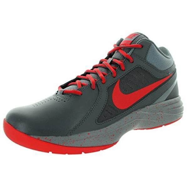 [DNKR]Nike Mens The Overplay VIII Dark Grey/Unvrsty Red/Cl Gry Basketball Shoe 10 - intl