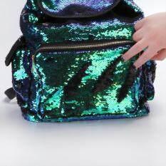 dadb4df79f Double Color Sequins Girls School Bag Soft Backpack Fashion Bag