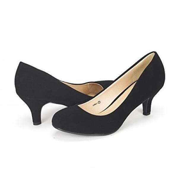 Mimpi Pasang Wanita Luvly Hitam Nubuck Pengantin Pernikahan Tumit Rendah Pompa Sepatu-9 M US-Intl