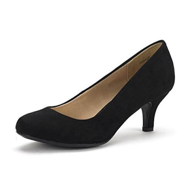 Mimpi Pasang Wanita Luvly Hitam Suede Pengantin Pernikahan Tumit Rendah Pompa Sepatu-8.5 M US-Intl