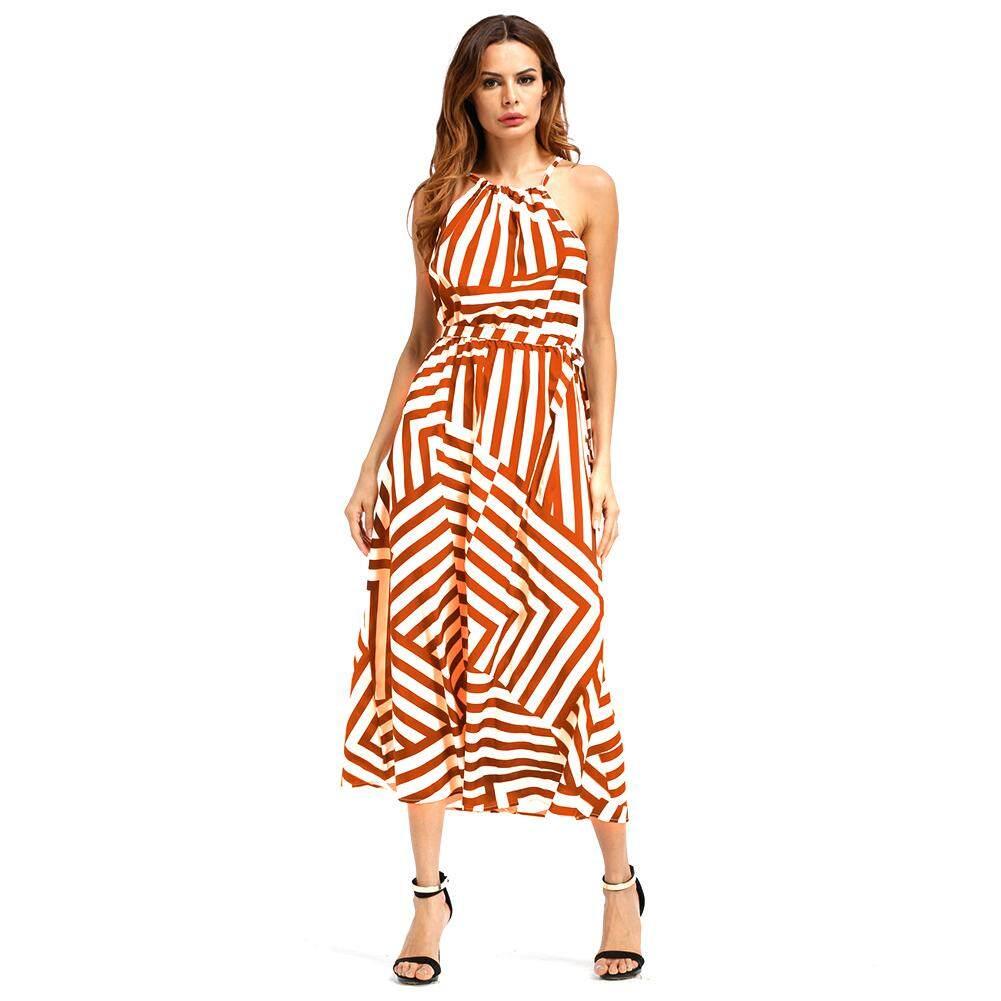 eachgo-women-bohemia-stripe-sleeveless-sling-long-dress-summerbeach-party-orange-3331-72645037-41368d982dd4a853ad289c2a28d76031- Ulasan List Harga Gaun Pesta Muslim Untuk Ibu Hamil Terlaris tahun ini