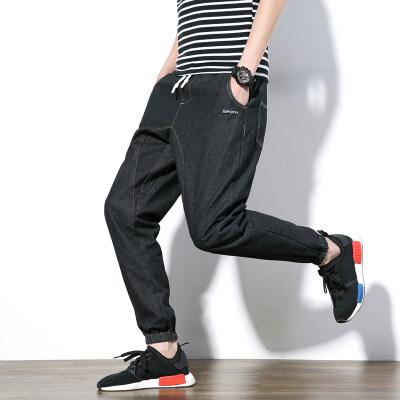 EBay Seksi Penjualan Pria Harem Celana Panggul-Hop Jeans Pergelangan Kaki-Journeys Celana Pria Kasual Celana Panjang Biru untuk Pria Joggers Sweatpants Pantalones Hombre-Internasional