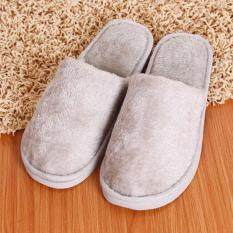 119d6d5d85ed5 Elife Fashion Long Plush Cotton Home Indoor Winter Shoes Slippers ( Grey )