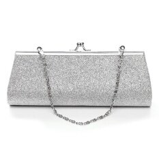 e8b177db91174 Elife Lady Women Shiny Glitter Evening Party Wedding Bridal Banquet Clutch  Purse Bag With the Chain