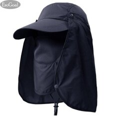 5468b8601e1 EsoGoal Summer Sun Hat Protection Caps Flap 360°Outdoor Fishing Hat With  Removable Neck Face