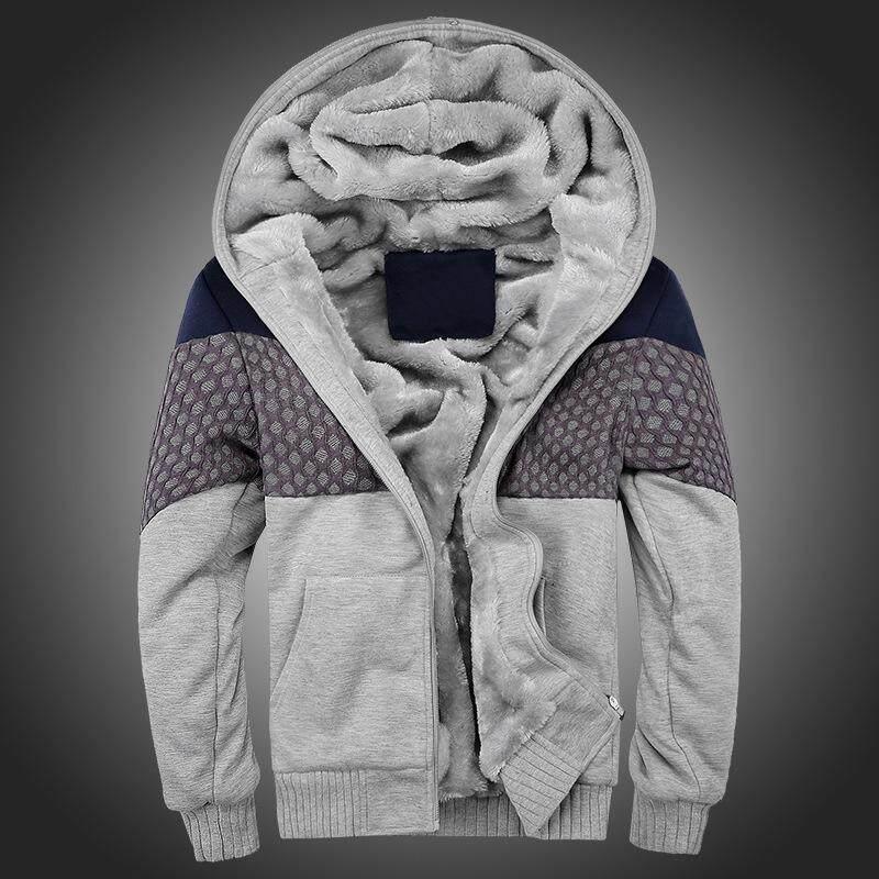 Bomber Mens Vintage Penebalan Bulu Jaket Musim Gugur Musim Dingin Desainer Merek Terkenal, Laki-laki Ramping Fit, Mantel Hangat-Intl