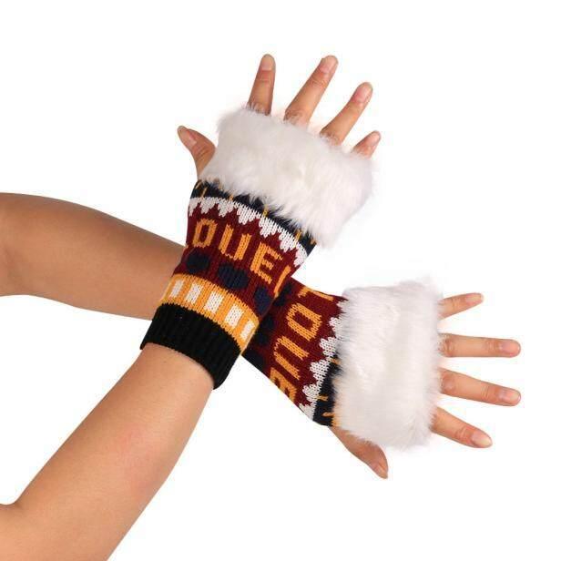 Xiner Fashion Rajutan Lengan Sarung Sarung Tangan Musim Dingin Unisex Lembut Sarung Tangan Hangat RD-
