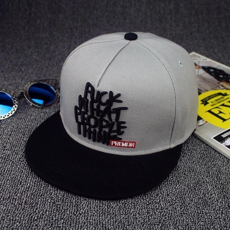Fashion Surat Bordir Topi Bisbol untuk Pria dan Wanita Kasual Outdoor Topi  Snapback 6c73f224d2