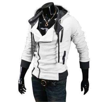Fashion Man's Casual Sportswear jackets Man Hoody Assassion Creed Sweatshirt White