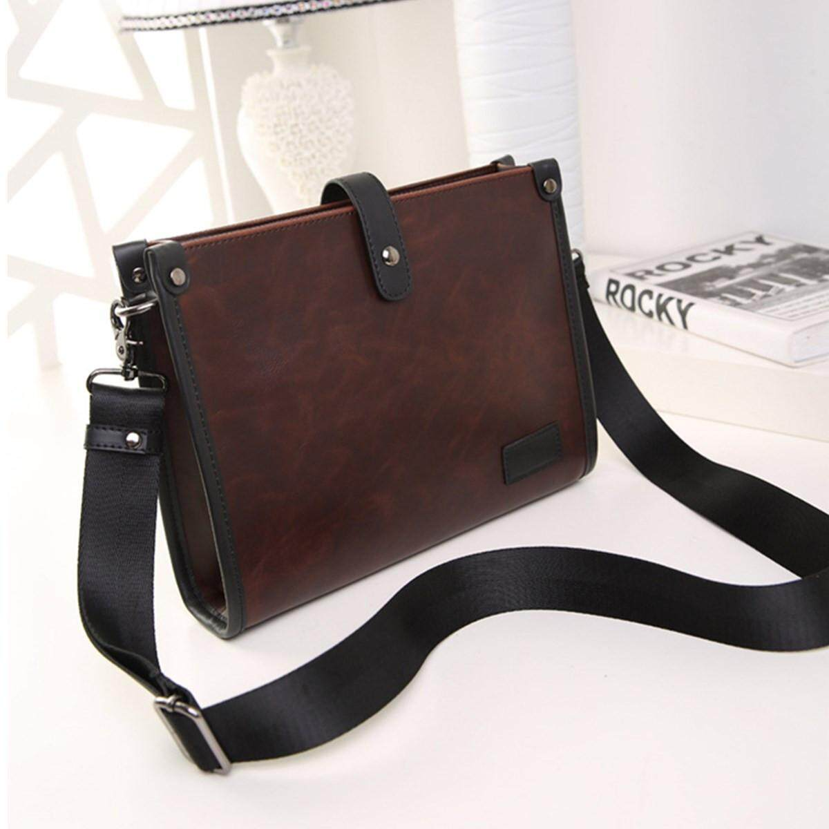d7b783065 Fashion Men's Leather Business Briefcase Bag Handbag Messenger Shoulder Bags  - intl