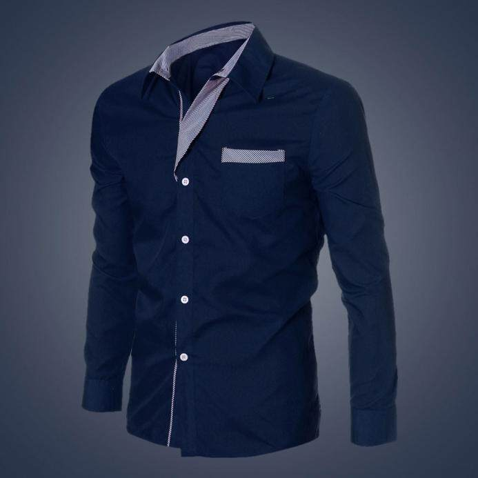 fd83083a6865 Fashion Mens Luxury Long Sleeve Casual Slim Fit Stylish Dress Shirts - intl