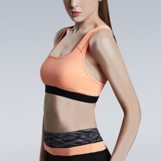 Fashion New Seamless Yoga Sports Bra Crop Top Vest Comfort Stretch Bras Shapewear Padded Orange By Huanjunshi.