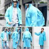 Fashion Women EVA Transparent  Portable Light Raincoat Rain Dress