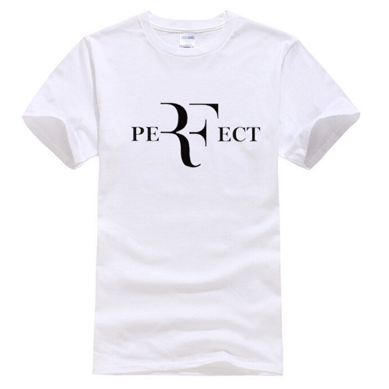 Fashion Roger Federer Perfect Print Tops Hip Hop Men Cotton Casual T Shirts White 001 Intl Online