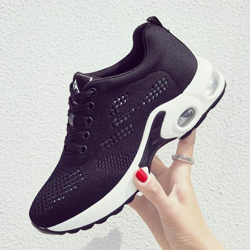 Sepatu Lari Modis Mesh Bantal Udara Wanita Sneakers Sepatu Olahraga  Perempuan Luar Ruangan Berjalan Sepatu Kasual 17dfa95829