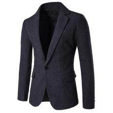 Fashion Korean Casual Suit Jacket(black Grey Stripe) By Wenzhou Tall Luggage Manufacturing Co Ltd.