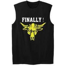 d36f574a5512c Fashion The ROCK Sleeveless FINALLY Fit Gym Tank Tops Undershirt Tshirt Men  Cotton Casual Sports