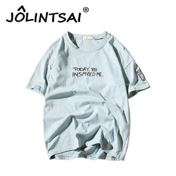 Fashion tshirt Letter Embroidery T Shirt Men Design Inspired T-shirt Cool Fashion Casual Novelty Funny Tshirt Men Tee Shirt Plus Size 4XL 5XL - intl