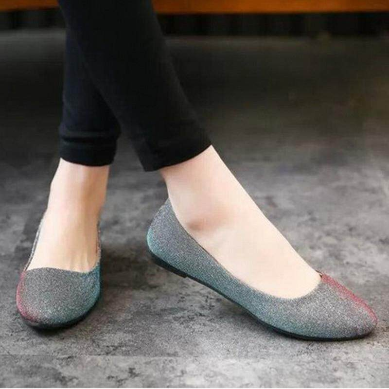 Fashion Women Flat Ballet Shoes Slip On Flats Boat Single Shoes Casual  Loafers Summer   Intl