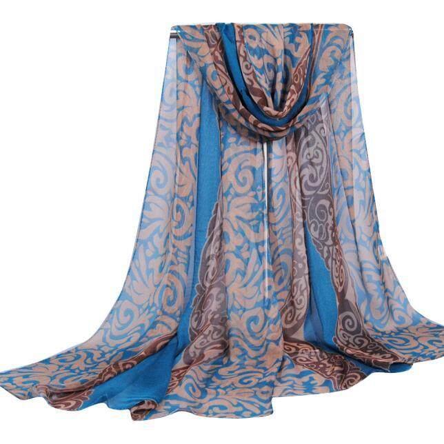 Fashion Women Printing Long Soft Wrap Scarf Ladies Shawl Georgette Scarves Bu