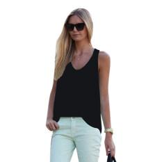0197529cbf9 Women Summer Sleeveless Shirt Blouse Casual Tank Tops T-Shirt Vest Tops  Black