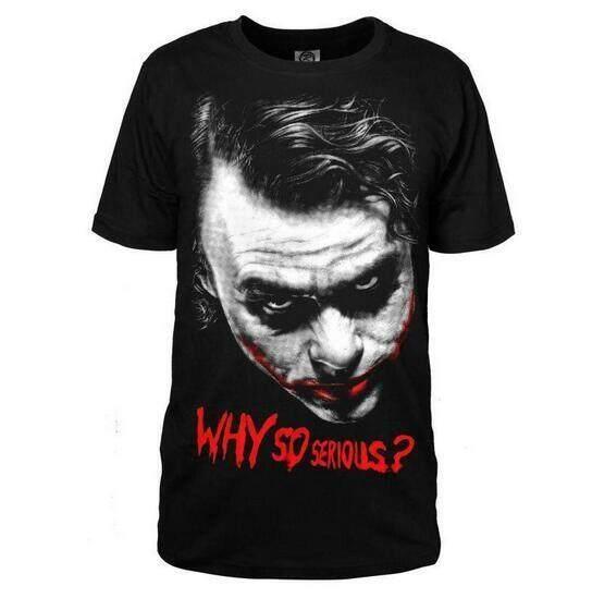 Fashion Women Men The Batman Joker Shirt T-shirt Why So Serious Cosplay  Costume 0a86ddf23d83