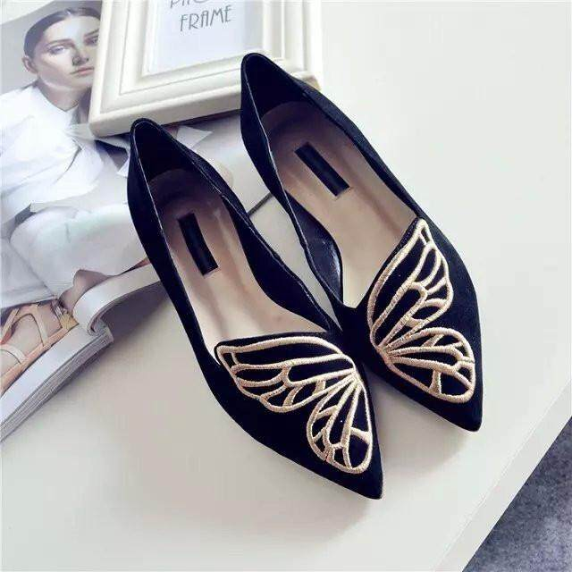 Fashion Womens Casual Ballet Shoes Slip On Flats Loafers Butterfly Shoes    Intl
