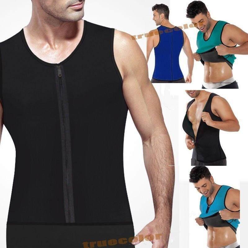 Buy Fitness Control Corset Ultra Sweat Men S Neoprene Vest Shapewear Sports Gym Waist Trainer Body Shapers Intl Oem Cheap