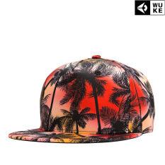 02de9d974 2019 New Design Coconut Tree Printed Cap Flat Brim Spring Outdoor Hats For  Men Caps Adjustable Hip-Pop Sport Cap For Women