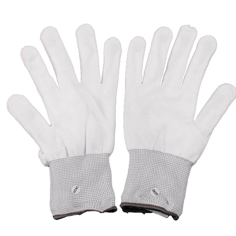 Flashing Gloves Glow 7 Mode LED Rave Light Finger Lighting Mitt New - intl