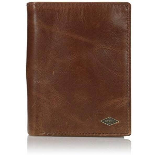 30207fba01 Fossil Mens RFID Blocking Ryan International Combi Wallet, Dark Brown, One  Size - intl